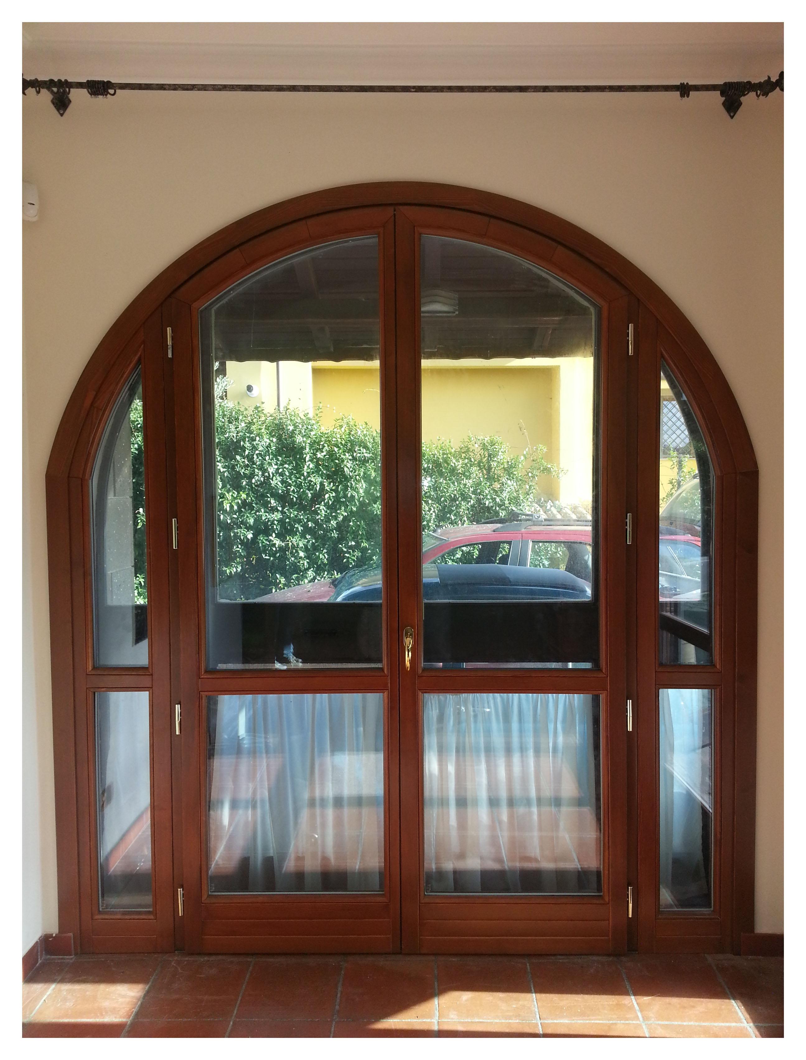Porta finestra ad arco g tabarini - Porta finestra legno ...