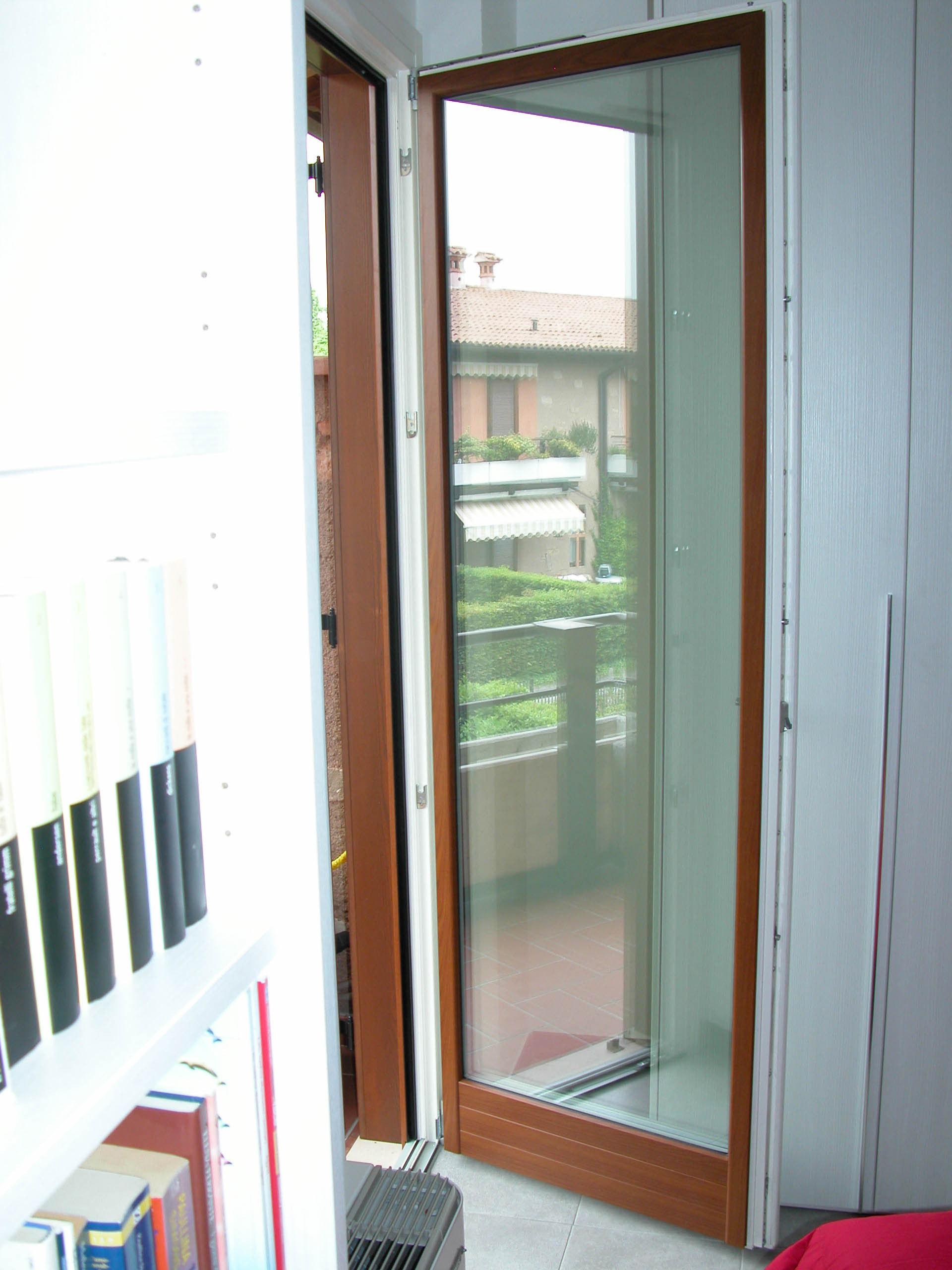 Pf1 porta finestra in legno alluminio ad una anta g - Porta finestra alluminio ...