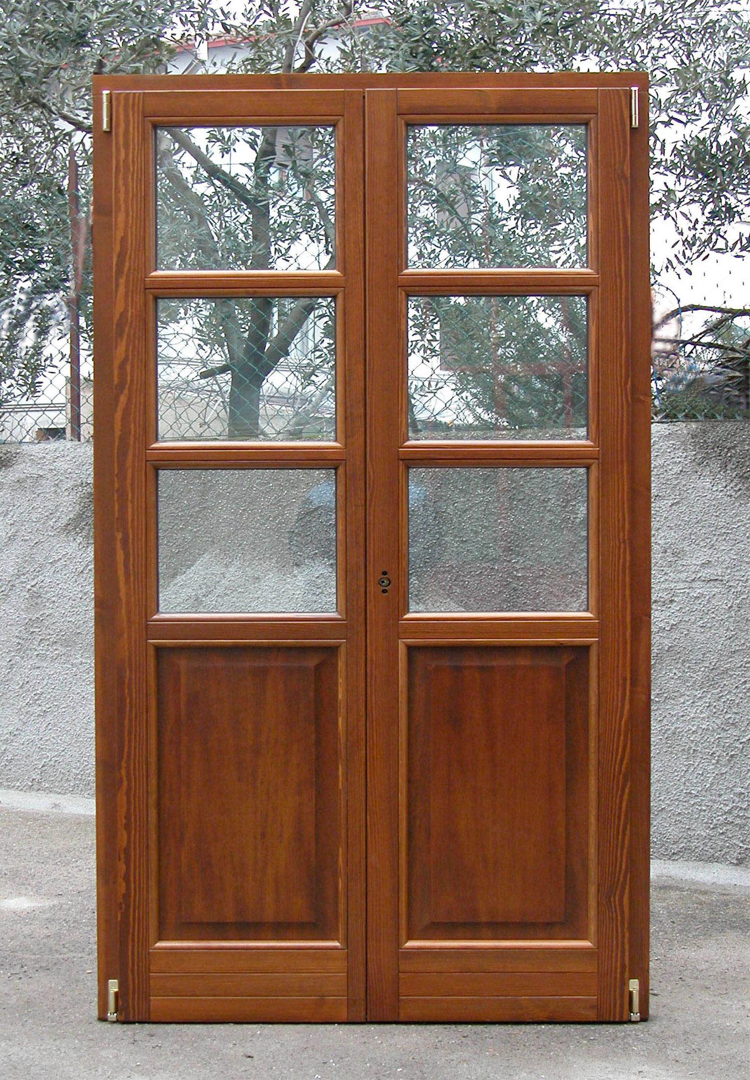 Pf2 porta finestra classica a due ante g tabarini - Porta finestra legno ...