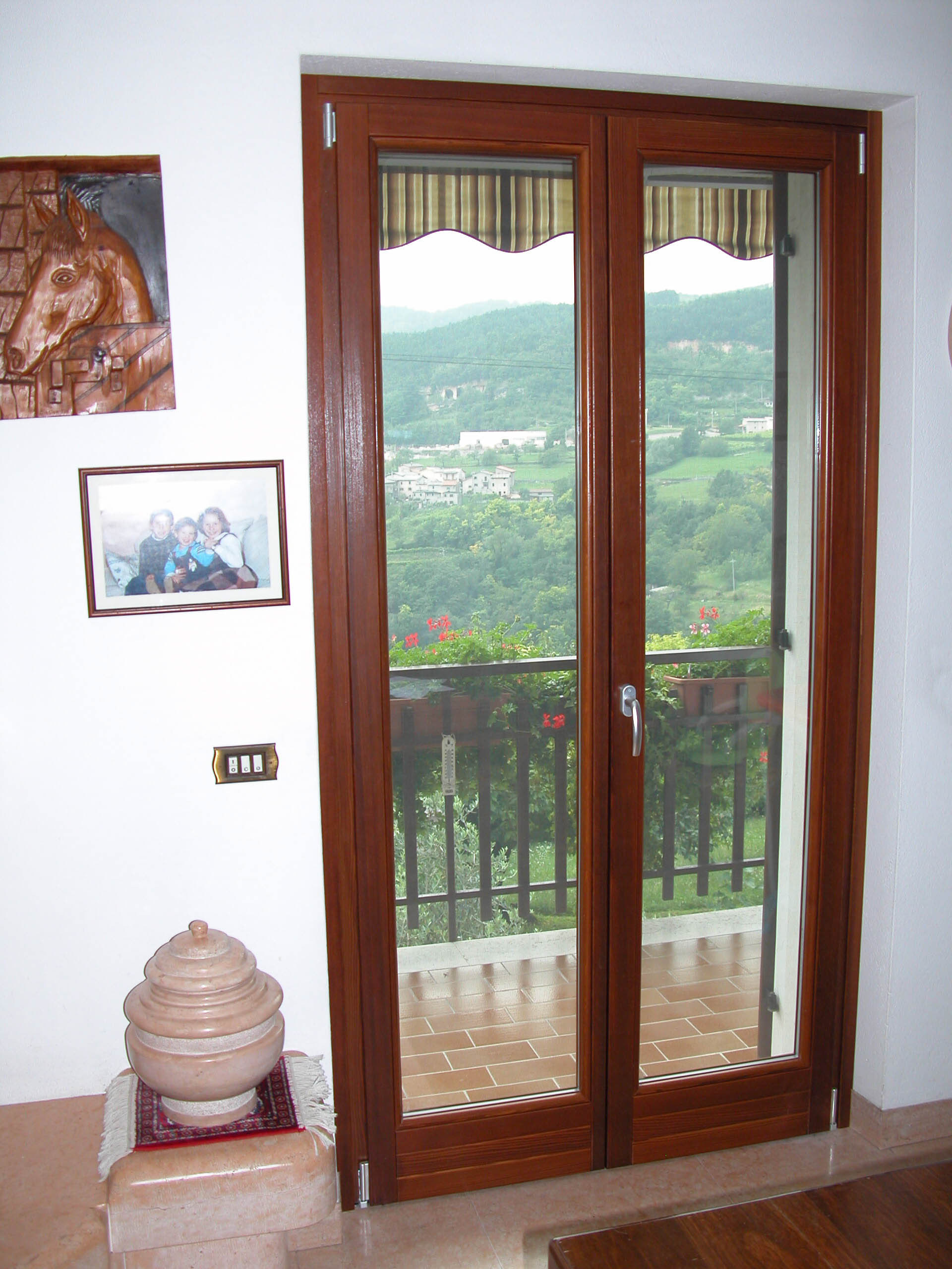 Porta Finestra A Due Ante.Pf2 Wooden Window At Two Wings With Casement Opening G Tabarini